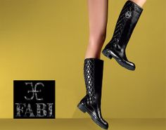 Fabi Shoes & Bags | Matelassé leather bag and boots | Internet Billboards