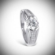 Engagement wedding ring. R.F. Moeller Jeweler Lazare Diamonds
