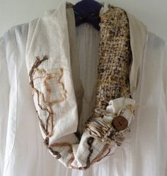 Handwoven scarf women's knit crochet Tundra by LifesAnExpedition, $119.00