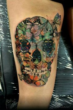 Butterfly sugar skull... Amazing!