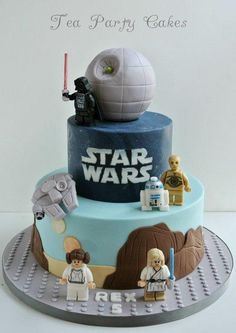 Star Wars Lego Cake - Cake by Tea Party Cakes