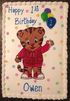Daniel Tiger birthday cake 6/5/14