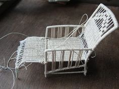 how to: miniature wicker lounge chair