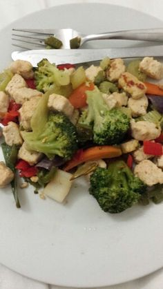 Quorn chicken and vegetable stir fry!