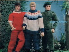Action man or ken outfits pattern on Etsy