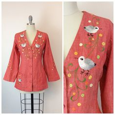 Hey, I found this really awesome Etsy listing at https://www.etsy.com/listing/270882283/70s-embroidered-bird-jacket-1970s