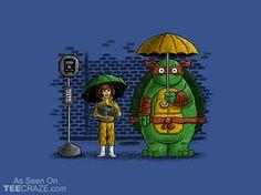 My Neighbour Turtle T-Shirt - http://teecraze.com/my-neighbour-turtle-t-shirt/ - Designed by salihgonenli #tshirt #tee #art #fashion #TMNT