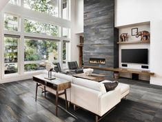 6 Startling Useful Tips: Small Living Room Remodel Square Feet living room remodel before and after columns.Living Room Remodel Ideas French Country living room remodel on a budget link.Living Room Remodel Before And After Dream Homes. Home Living, Small Living, Modern Living, Luxury Living, Modern Room, Living Room Colors, Living Room Designs, Off Center Fireplace, Family Room Design