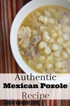 Delicious Authentic Mexican Pozole Recipe - The Best Authentic Mexican Recipes Mexican Cooking, Mexican Food Recipes, Dinner Recipes, Green Chili Recipes, Vegetarian Mexican, Mexican Desserts, Dessert Recipes, Pork Recipes, Cooking Recipes