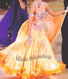 Ballroom Everyday Standard Waltz Tango Dance Dress US 10 UK 12 Orange Color