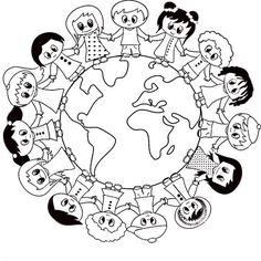 Earth Day Projects, Earth Day Crafts, World Crafts, Harmony Day Activities, Earth Day Activities, Coloring Book Pages, Coloring Pages For Kids, Coloring Sheets, Doodle Art Drawing