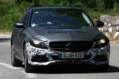 Mercedes C-Class spy shot head on