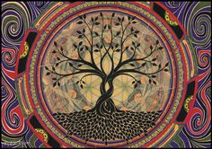 Pix For > Tree Of Life Drawings Colorful