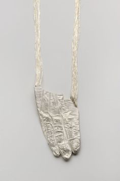 Eugenia Ingegno, Necklace: Dorea 2010 - Silver, embroidery thread