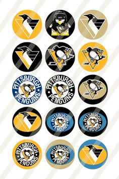 Pittsburgh Penguins digital collage sheet size by newdesigns4you, $1.95