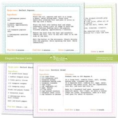 Free Editable Download in MS Word Recipe Card Template | Recipe ...