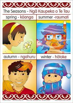 Seasons Bilingual Chart   Te Reo Maori Resources