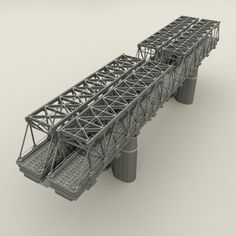 Railway bridge 2 Model available on Turbo Squid, the world's leading provider of digital models for visualization, films, television, and games.