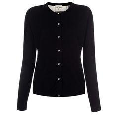 Paul Smith Women's Knitwear | Black Merino Wool Cardigan With Graphic Batik Silk Back
