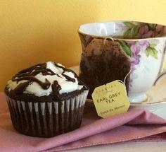 Earl grey & chocolate cupcake