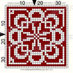 ru / Фото - Le Filet Ancien V - gabbach Small Cross Stitch, Cross Stitch Tree, Cross Stitch Charts, Cross Stitch Designs, Cross Stitch Patterns, Crochet Borders, Crochet Diagram, Crochet Chart, Filet Crochet