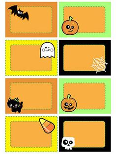 Free printable halloween lunch box notes lunch box notes spooky 19 printable halloween decorations negle Gallery