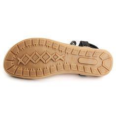 New Women Flat Jewellery Bead Clip Toe Massage Shoes Sole Sandal Shoes - US$16.95