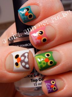 A Girl and Her Polish: Owls. This is happening on my toes. Soon.