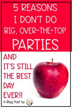 Oh no! It's time to set up a holiday party in your classroom! Do you dread these days? DON'T! Read my blog post about why my classroom parties are laid back, but still fun for my students!!