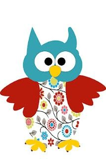 Flowered owl for Owl Party | http://partyideacollections.blogspot.com