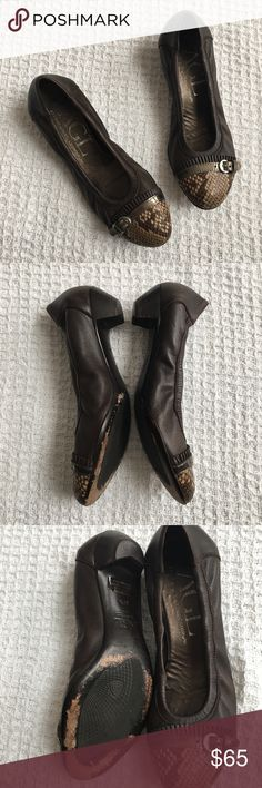 AGL Attilio Giusti Leombruni Cap Toe Ballet Shoes Very good condition! Minor wear on bottoms. Soft genuine leather. Size 38.5 or 8.5 US. Smoke-free home.  Made in Italy. Agl Shoes
