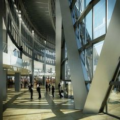 The Bow is the first phase of a masterplan for the regeneration of two entire city blocks on Centre Street, a major axis through downtown Calgary. O Canada, Alberta Canada, Canada Travel, Foster Partners, Tower Building, New West, Roofing Systems, Calgary, Wall Design