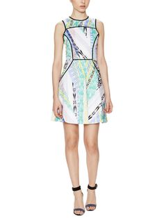 Kailey Printed Dress with Piped Trim from Prints Please on Gilt
