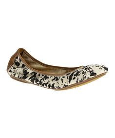 Look at this White Chaste Leather Ballet Flat on #zulily today!