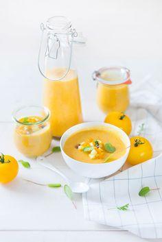 Gaspacho de Tomates Jaunes #recette @ frais-basilic.com