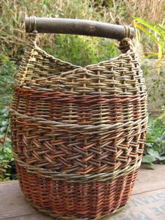 Beautiful basket made from natural bolts of Willow reeds