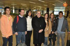 Cardenal Sistach a l'aeroport de Roma