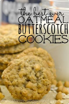 Oatmeal Butterscotch Cookie Recipes | Best Snack and Dessert Ideas | Kid Approved via lwsl