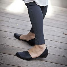 Flat leather shoes Designer comfortable shoes. by WalkByAnatDahari, $230.00