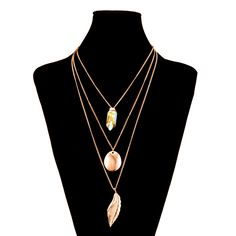 Do you wanna to become a focus of attention in your party? Are you finding an accessory for dress? Look this #LeafPendantNecklase, I think that is what you want!