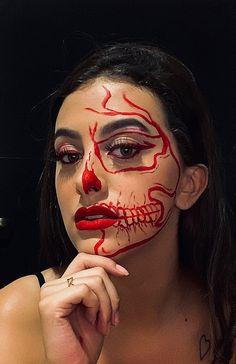 How To Ask Your Bridesmaids, Makeup Trends, Face Art, Makeup Art, Cartoon Art, Eyeliner, Halloween Face Makeup, Make Up, Hair Styles