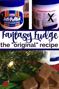 The Original Fantasy Fudge Recipe (not the imposter!) - The Savvy Age Yes! The original fantasy fudge recipe (not the imposter! My favorite go to fudge recipe all year round. Creamy, melt in your mouth fudge recipe with marshmallow cream. Christmas Candy, Christmas Desserts, Christmas Baking, Christmas Recipes, Christmas Cookies, Simple Christmas, Christmas 2019, Holiday Recipes, Christmas Fudge