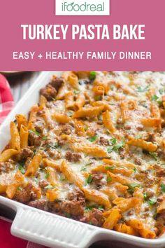 Healthy Turkey Recipes, Healthy Casserole Recipes, Healthy Family Meals, Healthy Pastas, Family Recipes, Dinner Healthy, Wheat Pasta Recipes Healthy, Crockpot Recipes, Easy Recipes