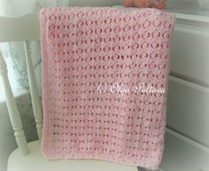 Lacy Crochet: Pink Clusters Baby Afghan - pattern for sale