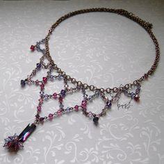 Lilac Shine necklace by Dark-Lioncourt.deviantart.com on @deviantART