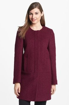 ShopStyle.com: DKNY Collarless Boucle Coat 12 $129.90