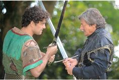 Lee as Robin Hood with Nigel Havers as Sheriff of Nottingham