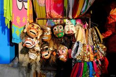 Balinese traditional masks sold as souvenirs  | #DeaVillas #wonderfulbali #art
