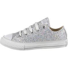 white sparkle converse