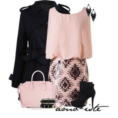 """""""Pink & Black"""" by amo-iste on Polyvore"""